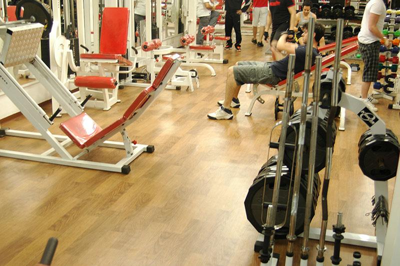 Piso para academia musculação